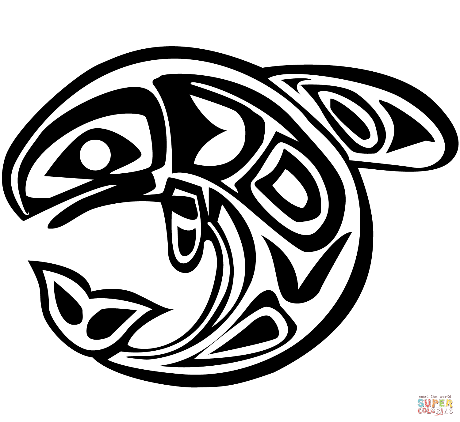 Shoshone Native American Symbols Sketch Coloring Page