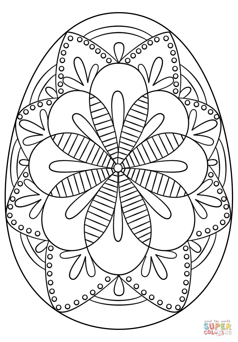 Click The Intricate Easter Egg Coloring Pages