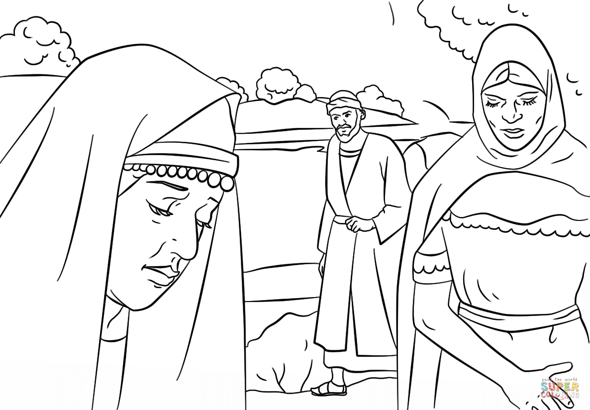 Lydia And Paul Coloring Page