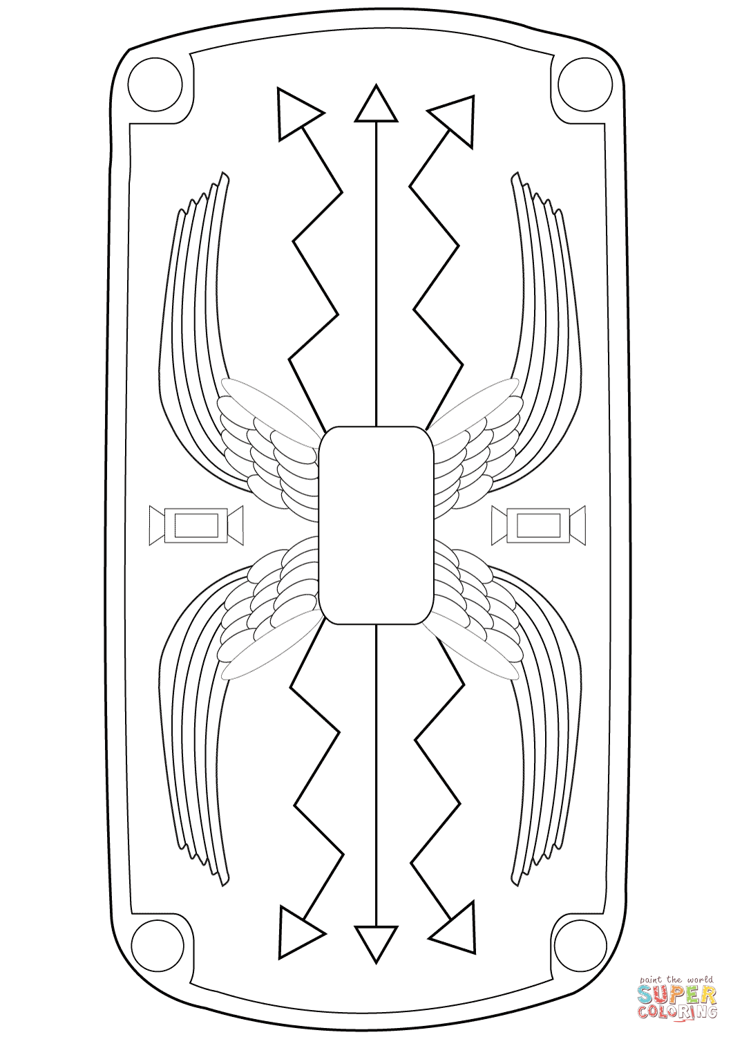 roman soldier diagram 2001 dodge caravan headlight wiring shield coloring page free printable pages