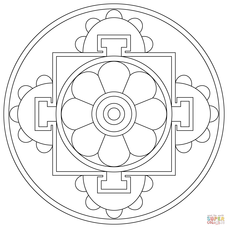 Online Mandala Coloring