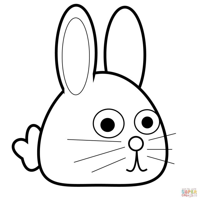 Spring Bunny coloring page  Free Printable Coloring Pages