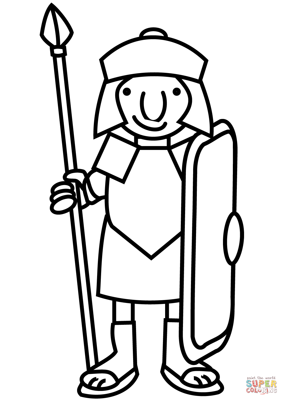 Cartoon Roman Sol R Coloring Page