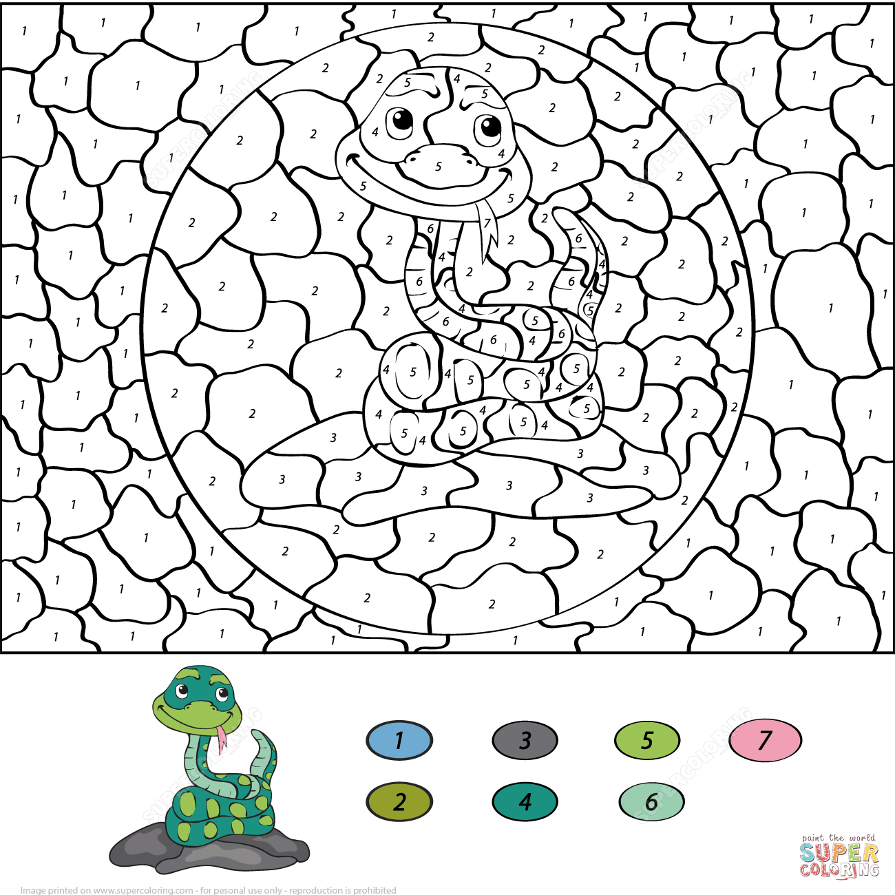 Snake Worksheets For Kids