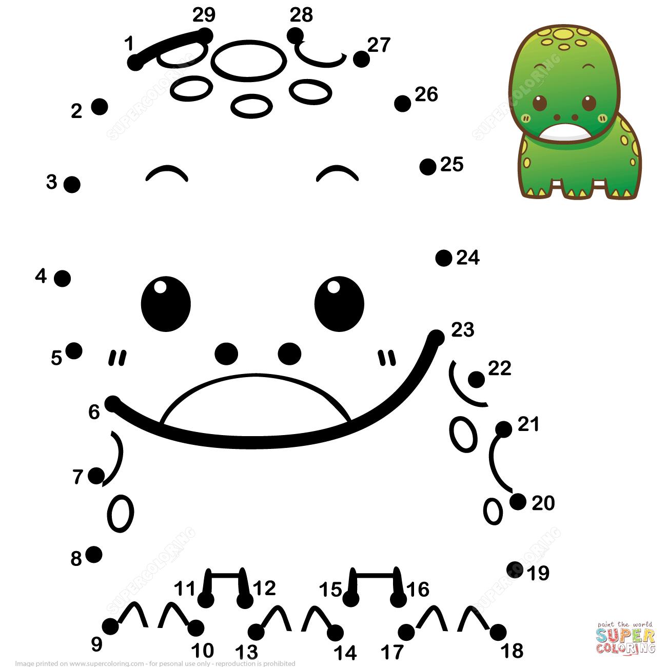 Cute Baby Frog Dot To Dot