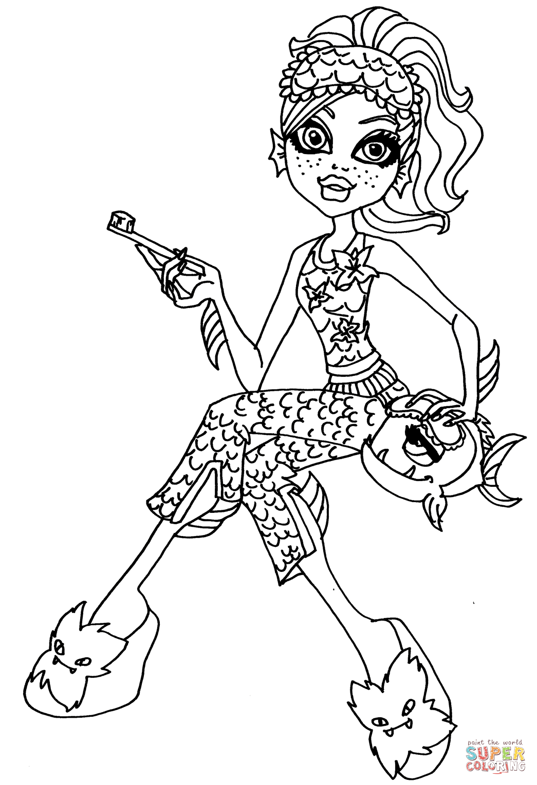 Dead Tired Lagoona Blue Coloring Page