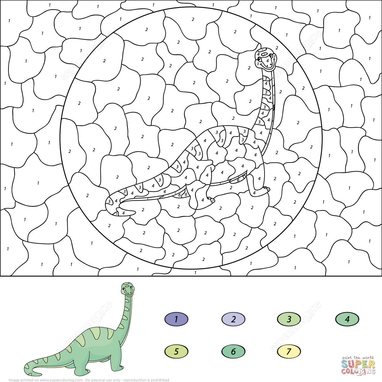Diplodocus Color By Number