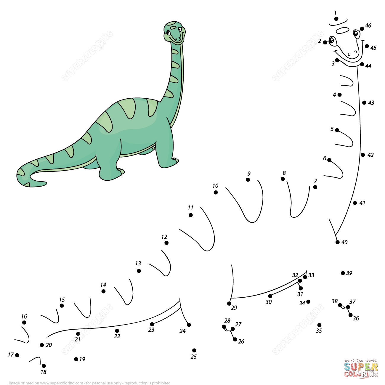Diplodocus Dot To Dot