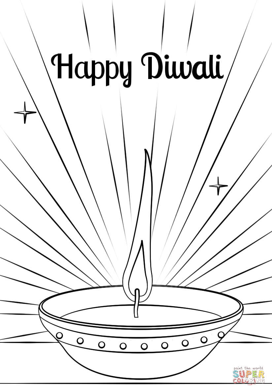 happy diwali colouring pictures dessincoloriage