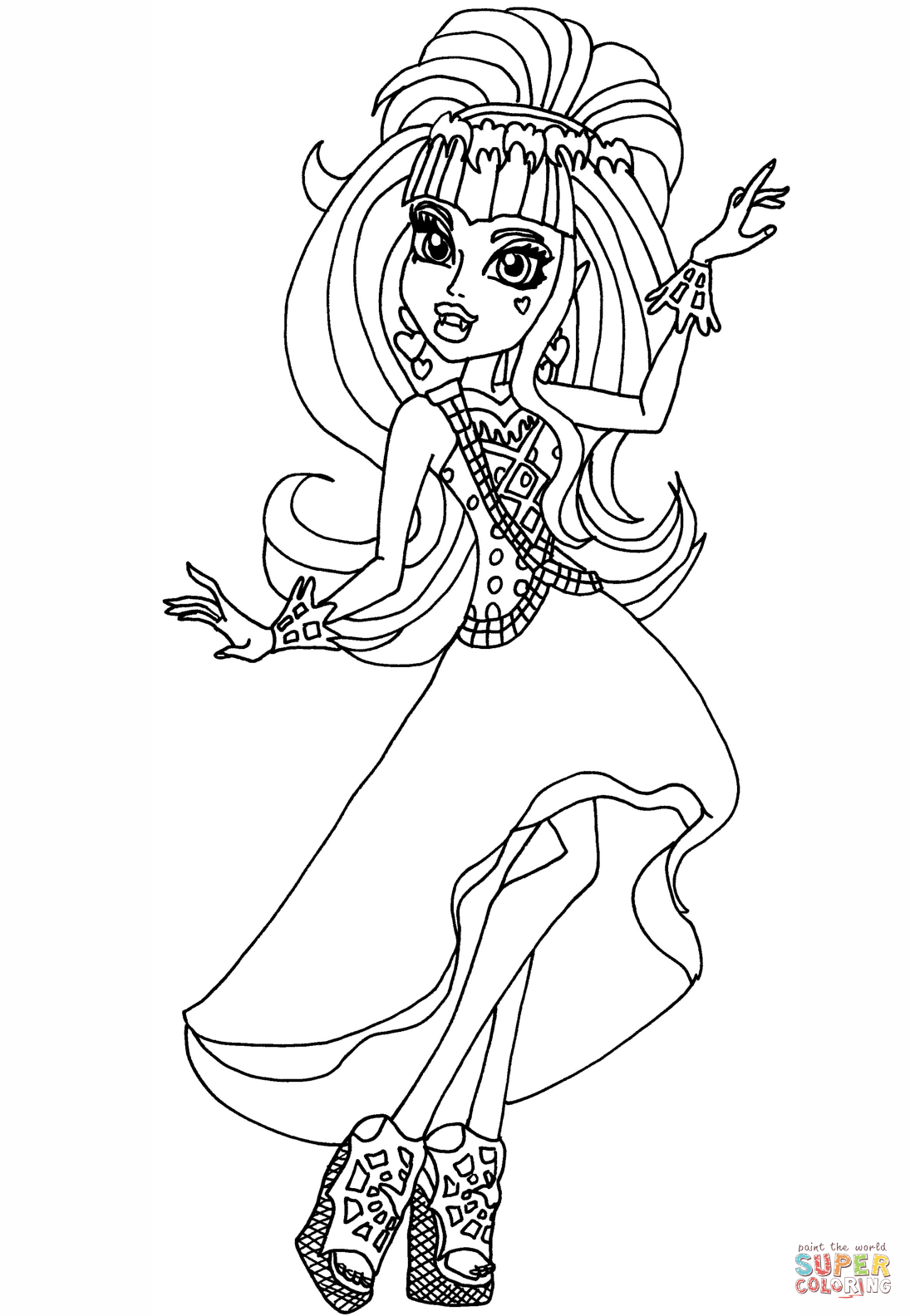 Draculaura 13 Wishes Coloring Page