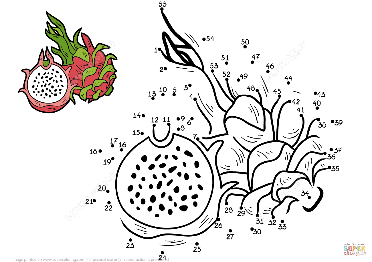 Dragon Fruit Dot To Dot
