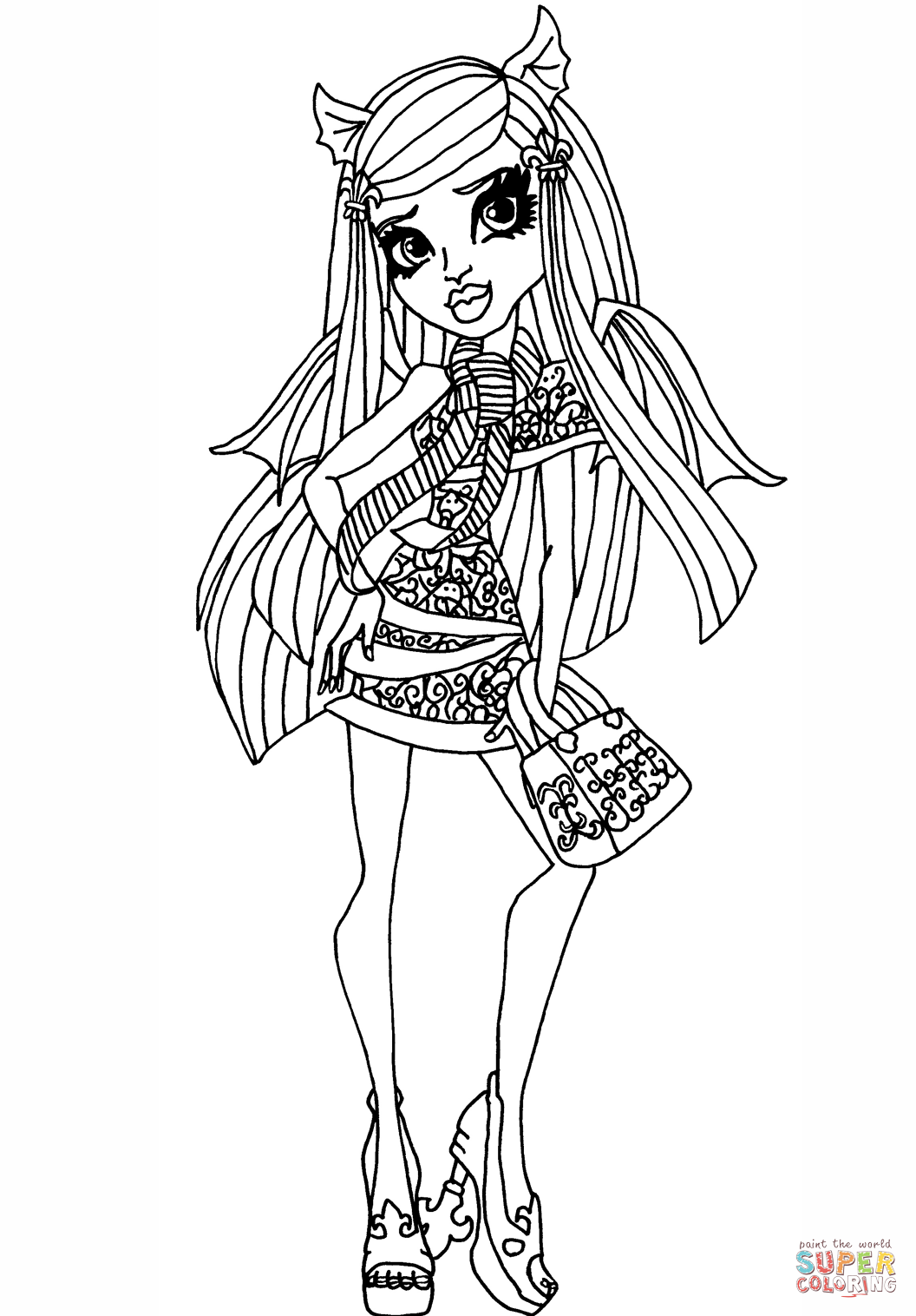 Ghouls Night Out Rochelle Coloring Page Free Printable