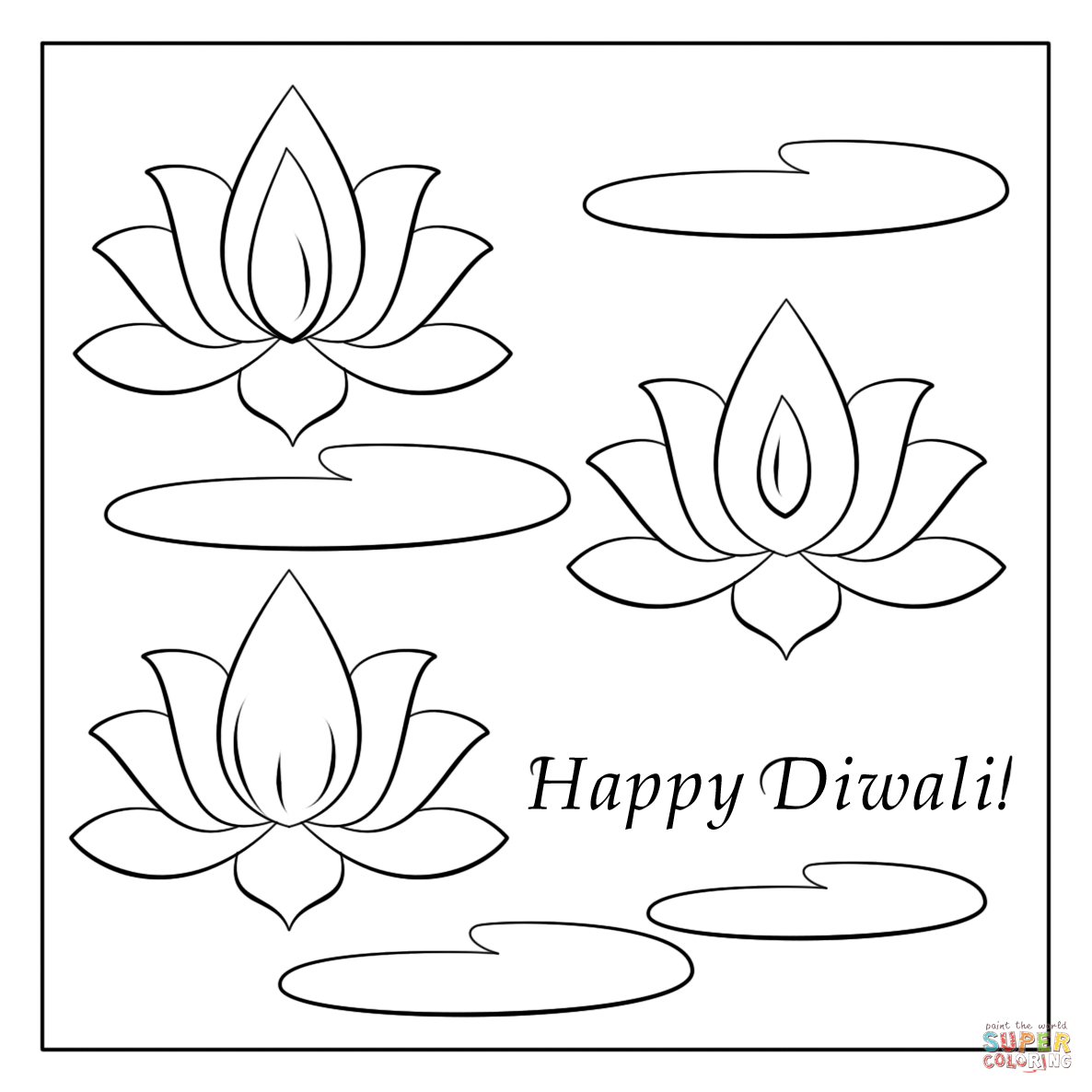 Diya Coloring Pages For Diwali