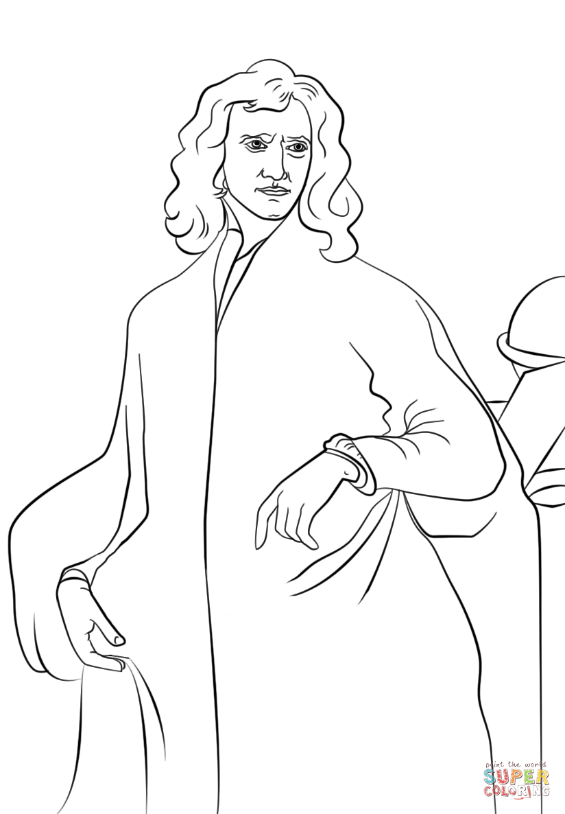 Isaac Newton Coloring Page Coloring Coloring Pages