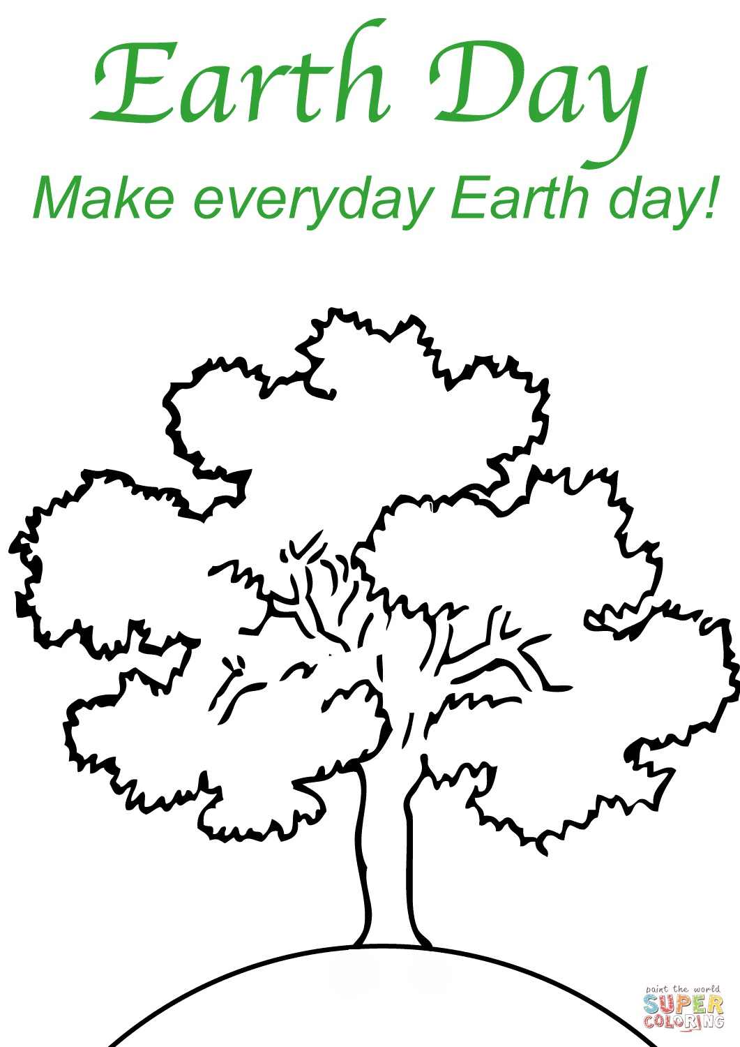 Make Everyday Earth Day Coloring Page