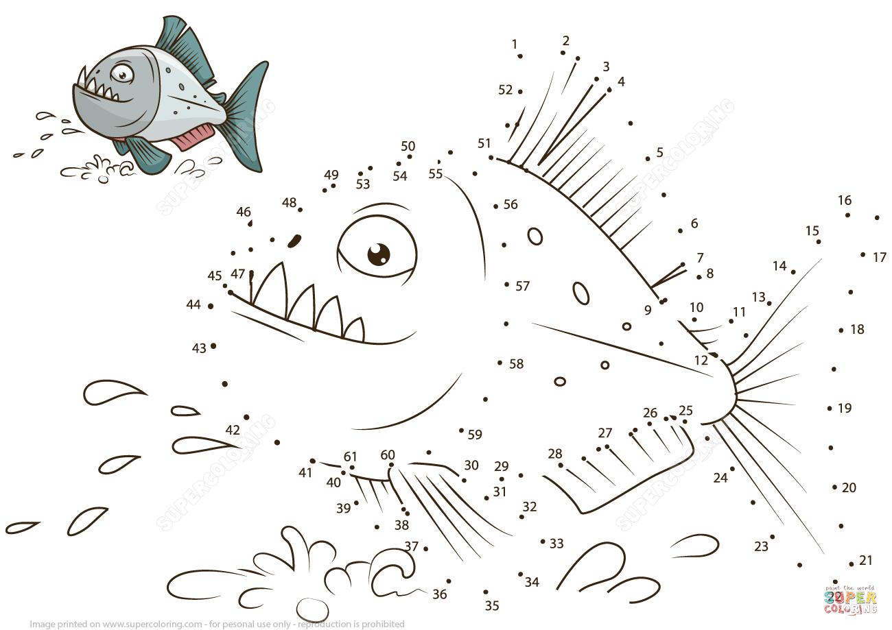 Piratfisk Prik Til Prik