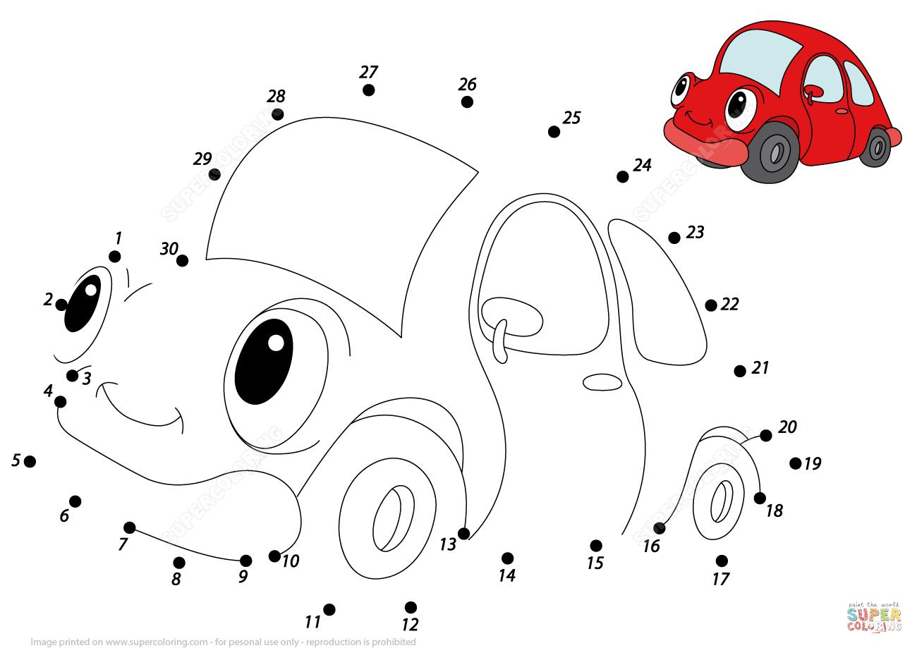Red Car Dot To Dot