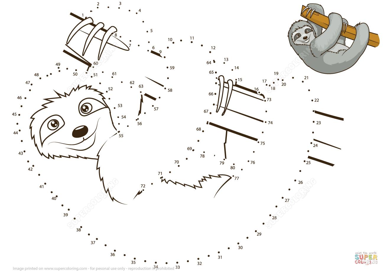 Sloth Dot To Dot