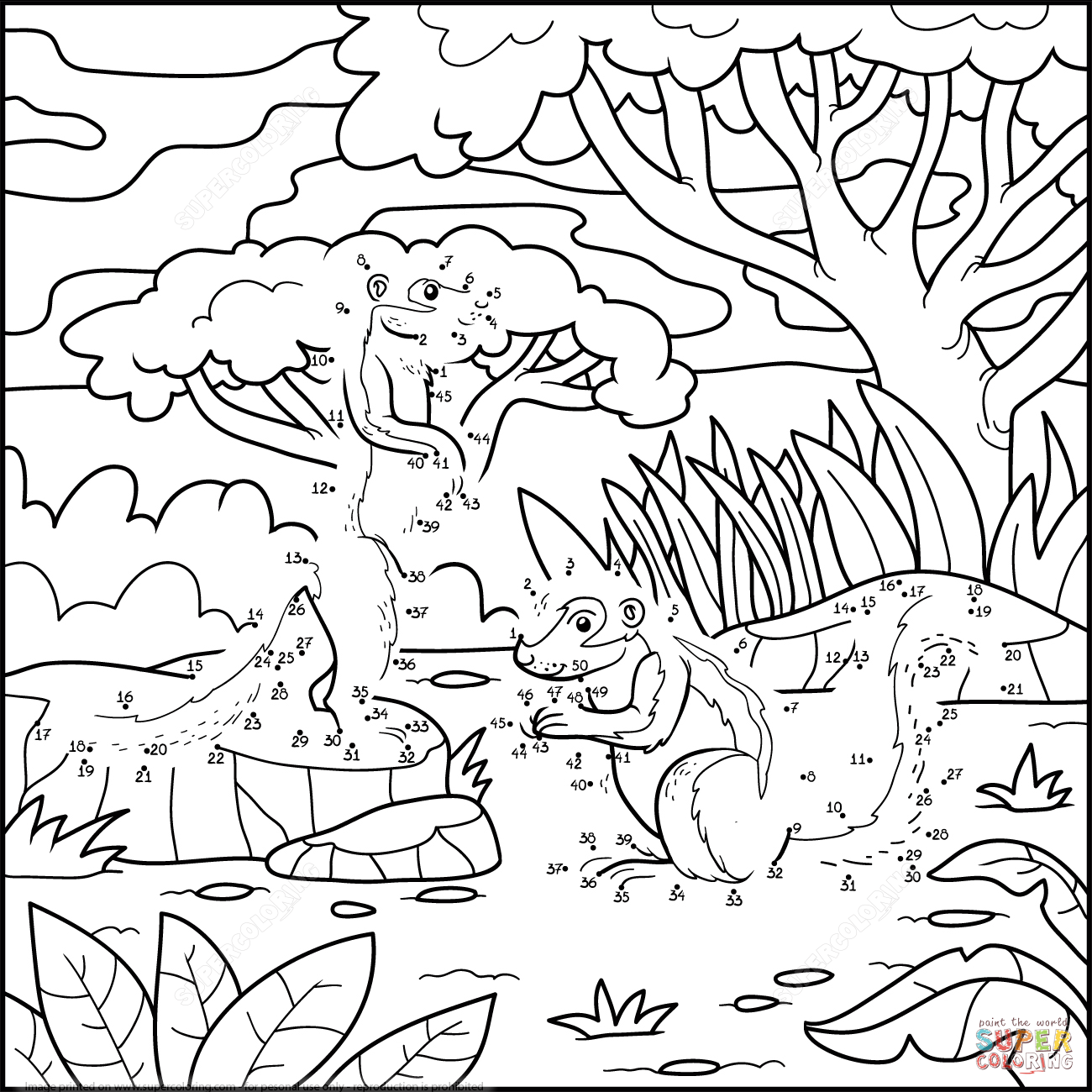 Squirrels In A Forest Dot To Dot