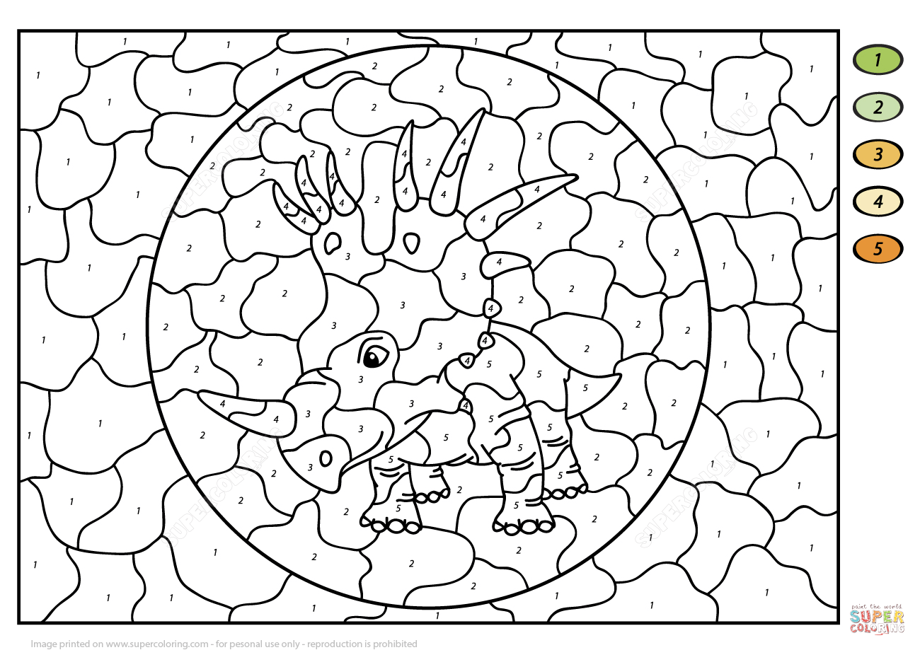 Styracosaurus Color By Number