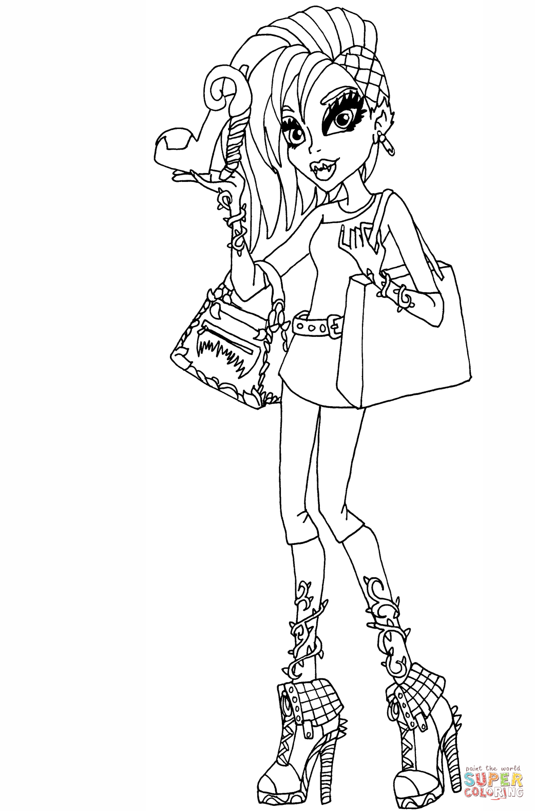 Venus Mcflytrap I Love Fashion Doll Coloring Page