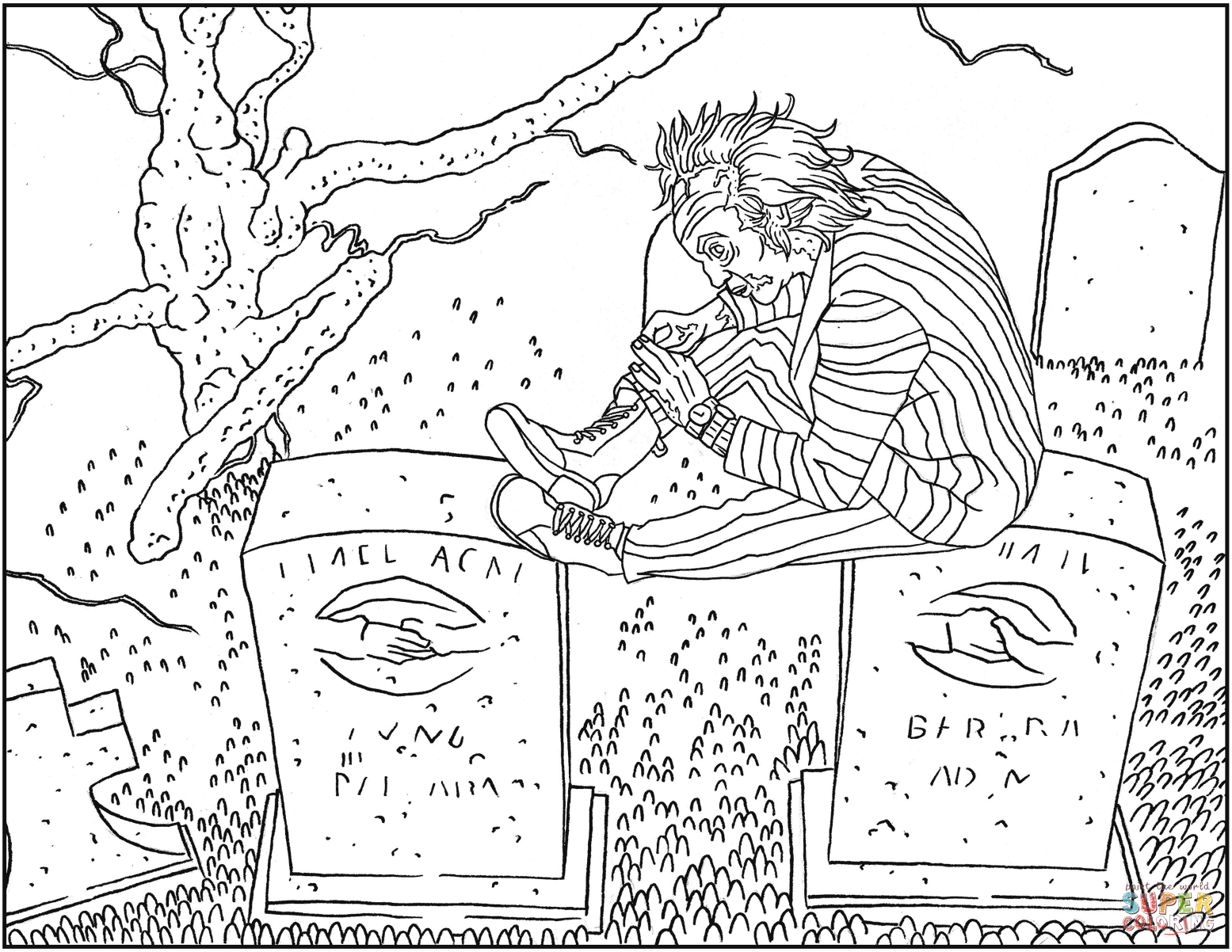 Legend Of Sleepy Hollow Sheet Coloring Pages