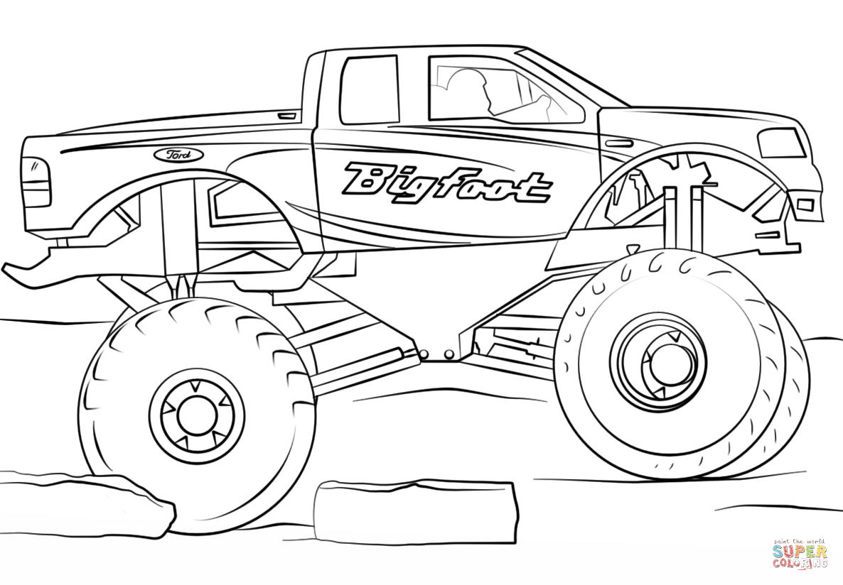 Bigfoot Monster Truck Coloring Page