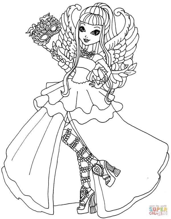 High . Cupid Thronecoming Coloring Page Free Printable Pages
