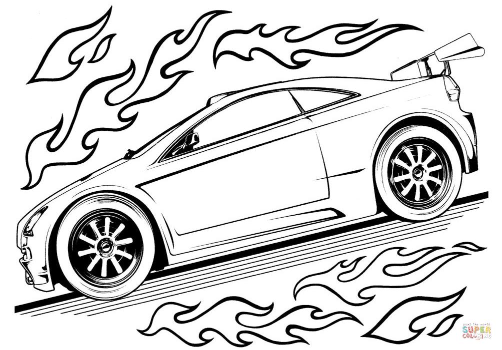 Hot Wheels-auto värityskuva