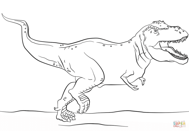 jurassic park t rex coloring page free printable pages - Tyrannosaurus Rex Coloring Page