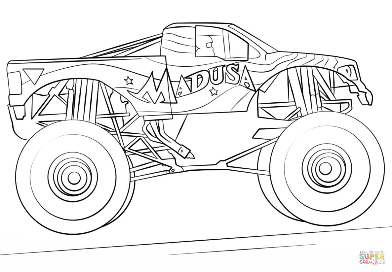 Madusa Monster Truck Kleurplaat