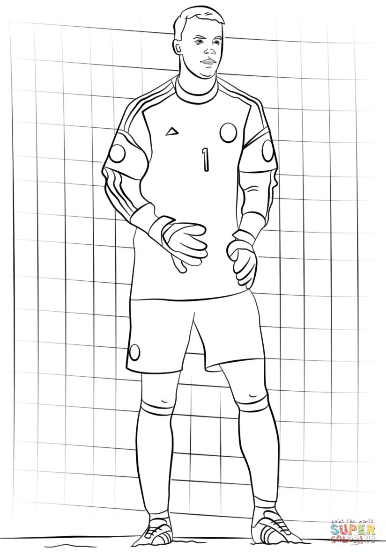 Disegno Di Manuel Neuer Da Colorare