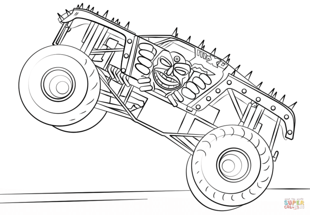 Max-D Monster Truck coloring page  Free Printable Coloring Pages