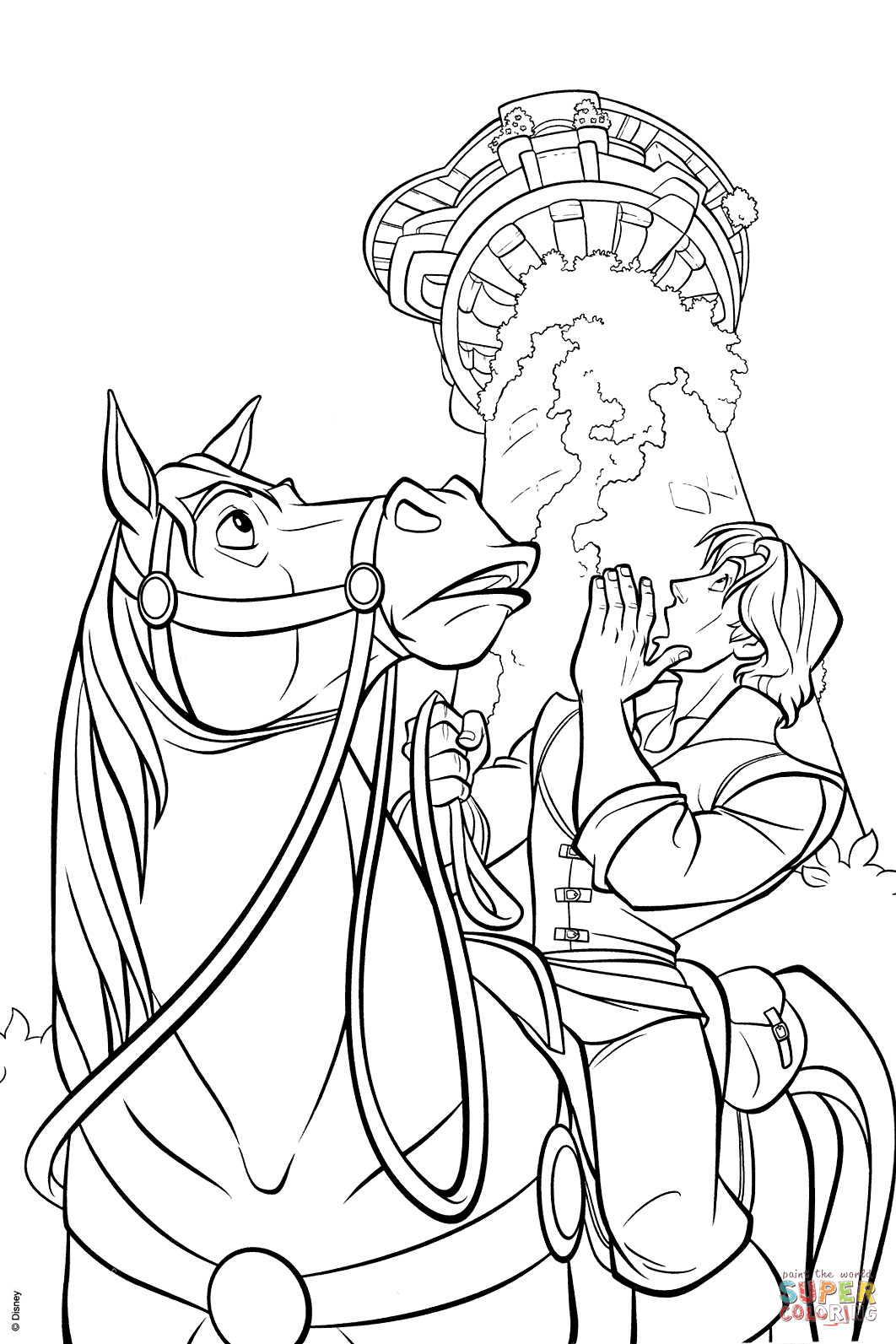 B Tangled Coloring Pages Flynn