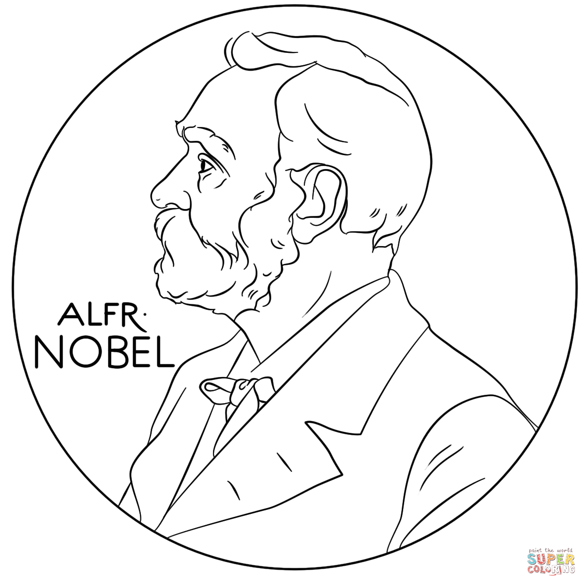 Alfred Nobel Coloring Page