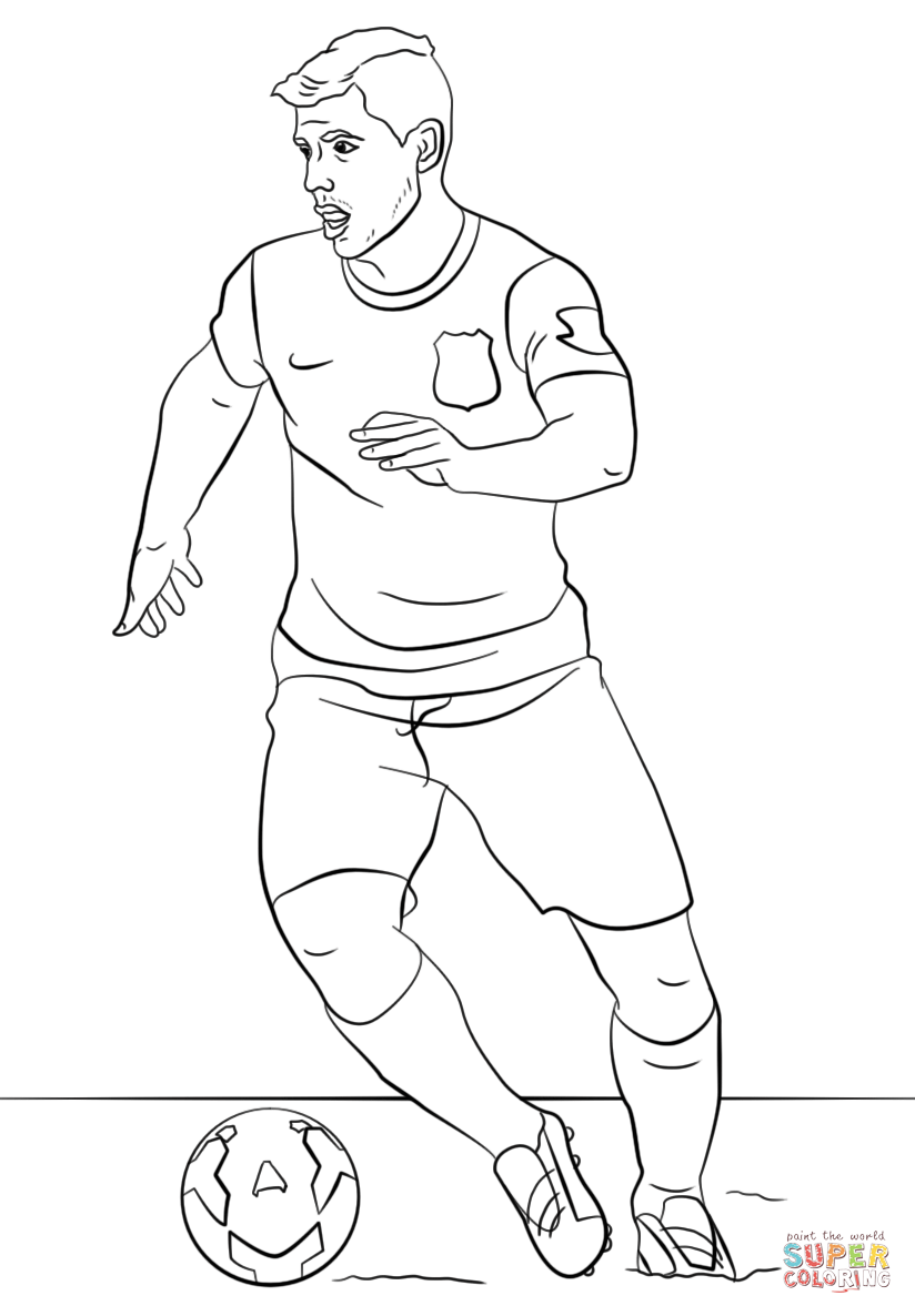 Messi Vs Ronaldo Coloring Pages