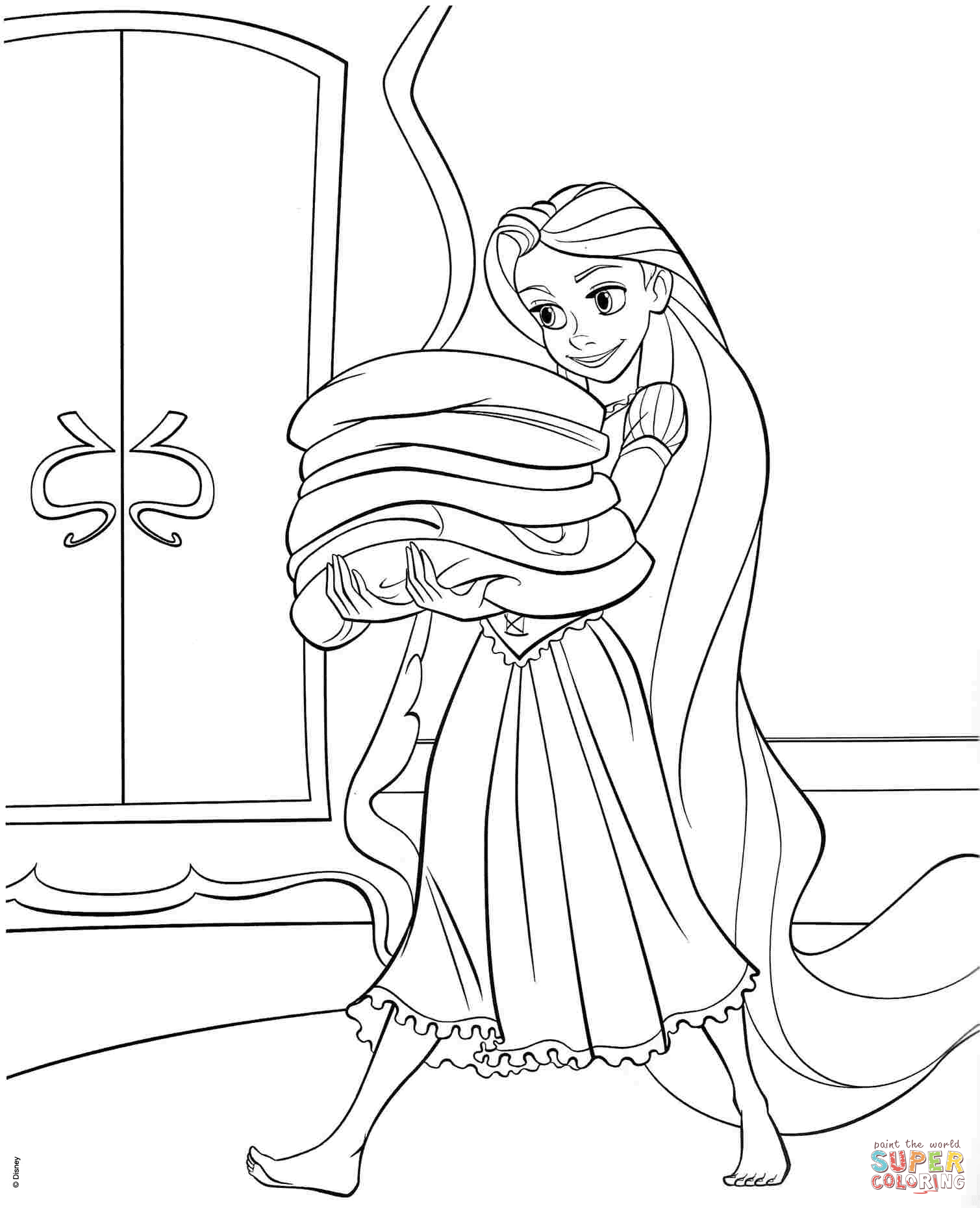 Tangled Rapunzel Coloring Pages Tangled Rapunzel Coloring Page - tangled coloring pages pdf