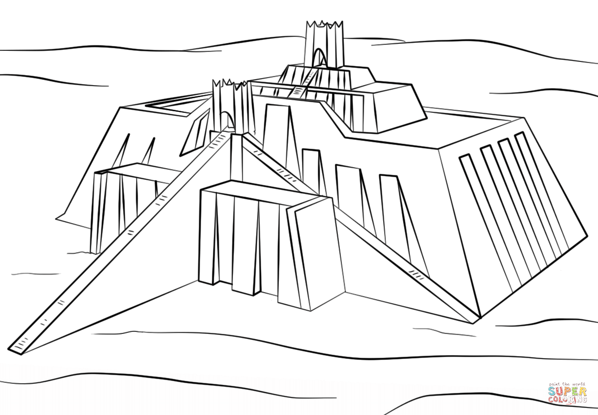 Ziggurat Coloring Pages Coloring Pages