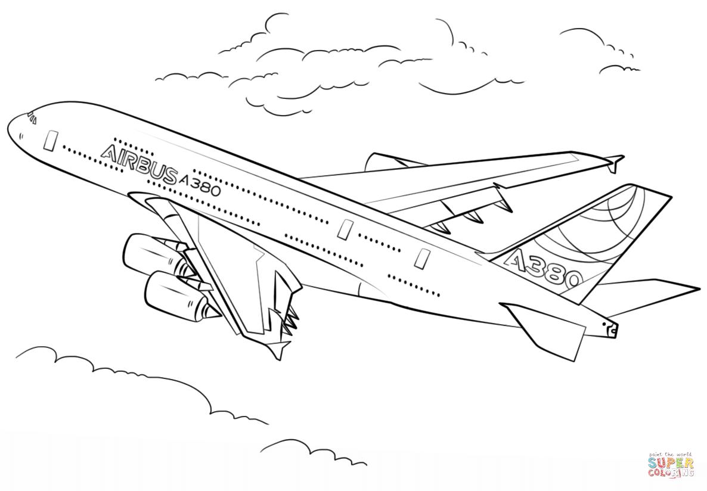 Malvorlage Flugzeug Zeichnung