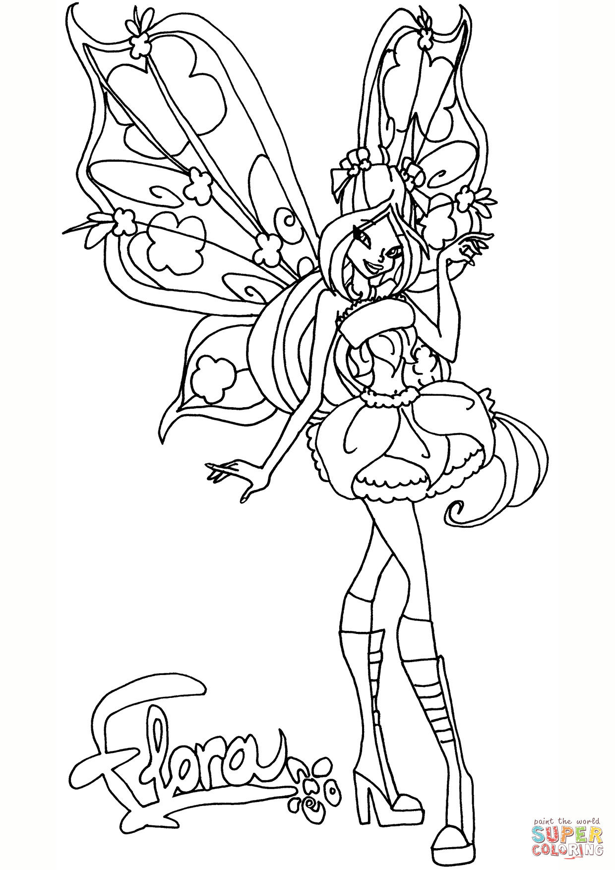 Believix Flora Coloring Page Free Printable Coloring Pages