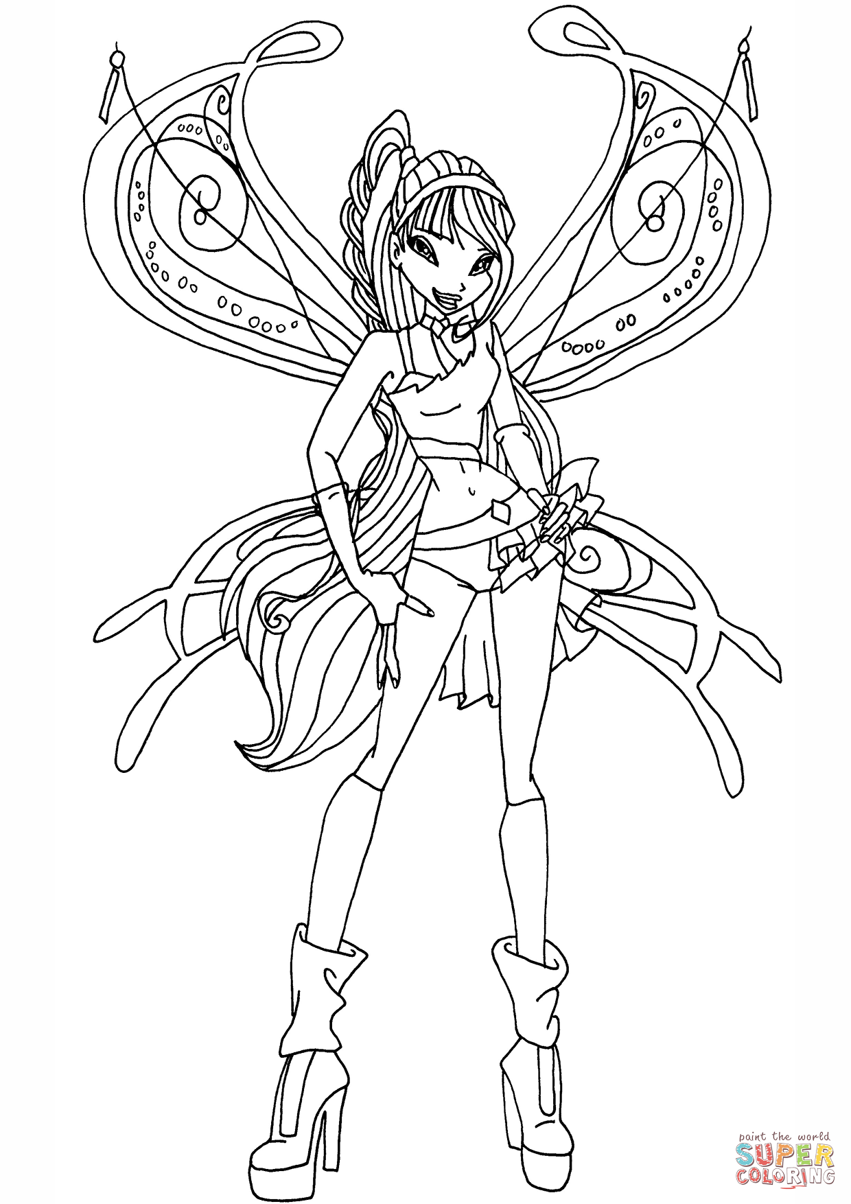 Believix Musa Coloring Page Free Printable Coloring Pages