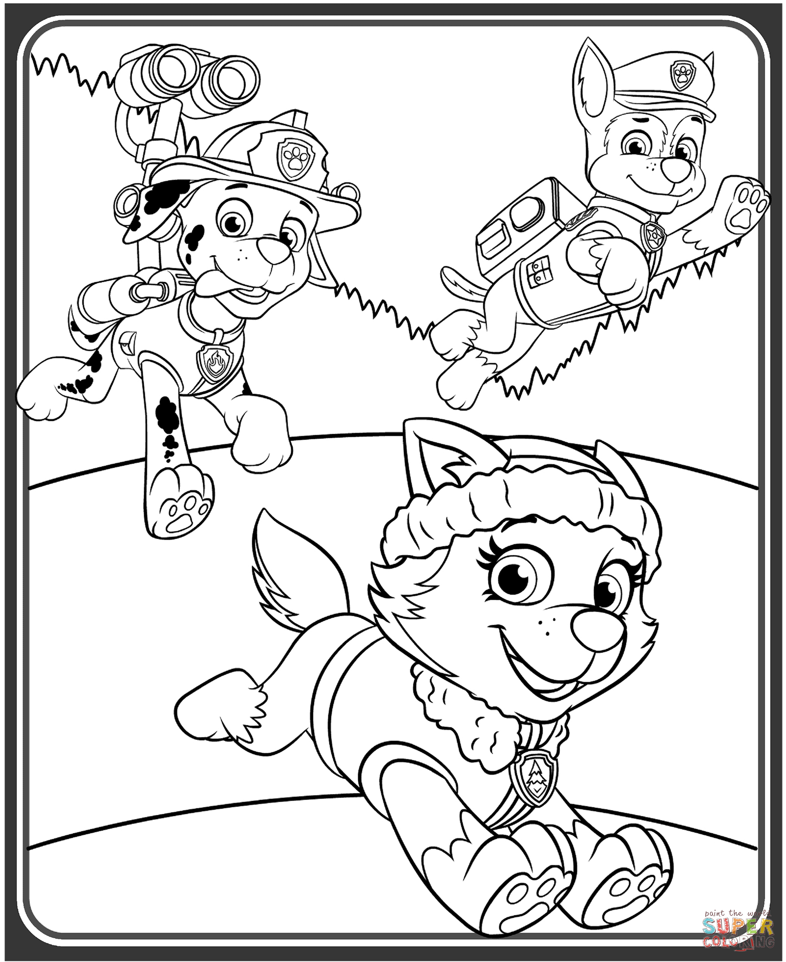 Beautiful Paw Patrol Birthday Coloring Pages 4 Happy
