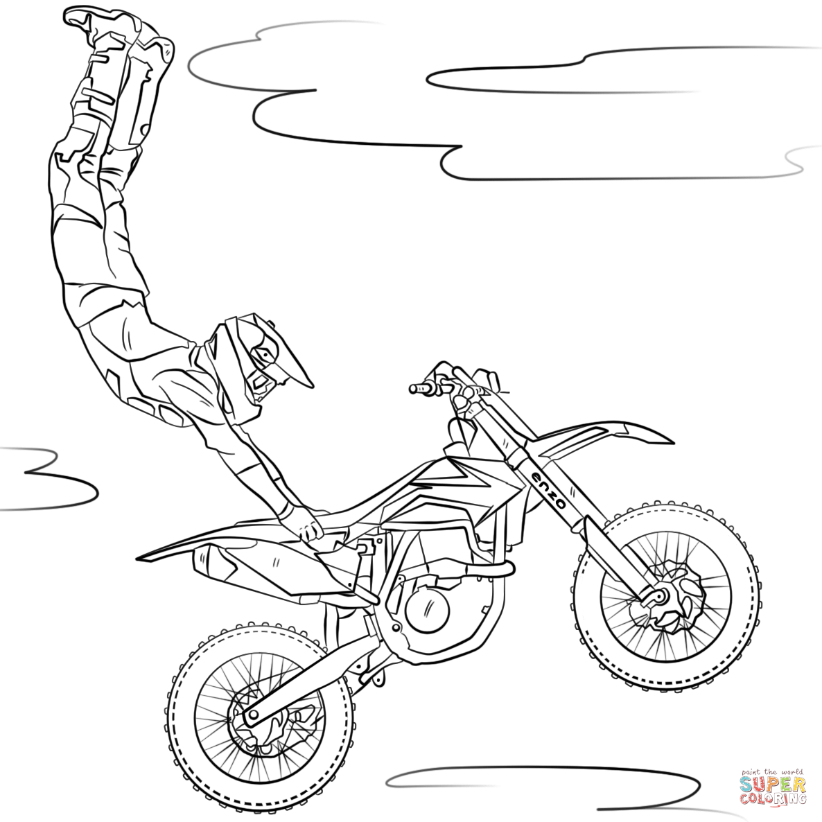 Freestyle Motocross Coloring Page