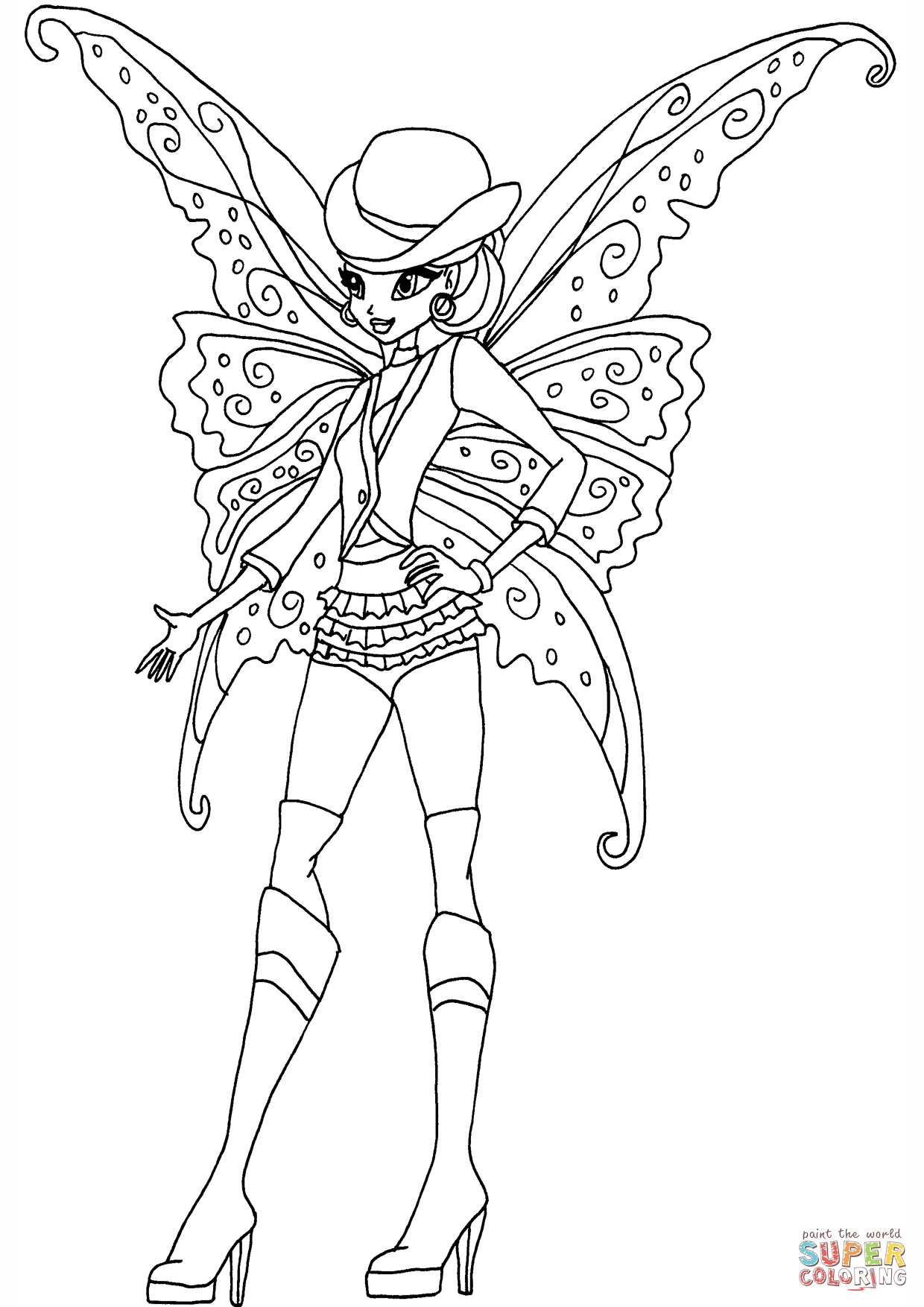 Gothic Stella Coloring Page Free Printable Coloring Pages
