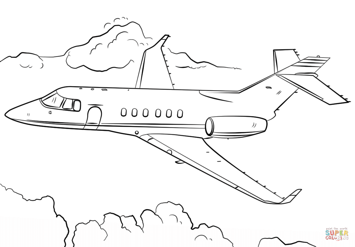 Cartoon Jet Drawing