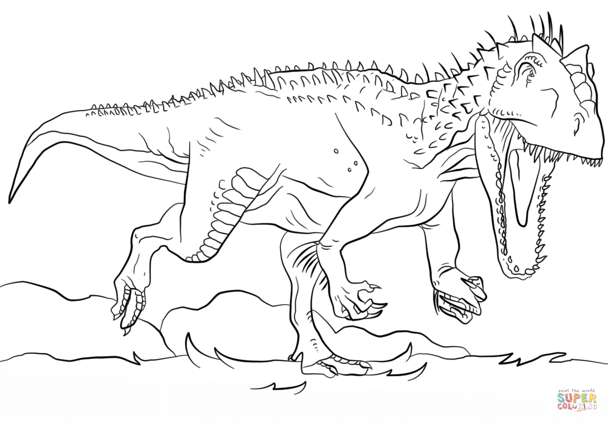 Jurassic Park Indominus Rex Coloring Page