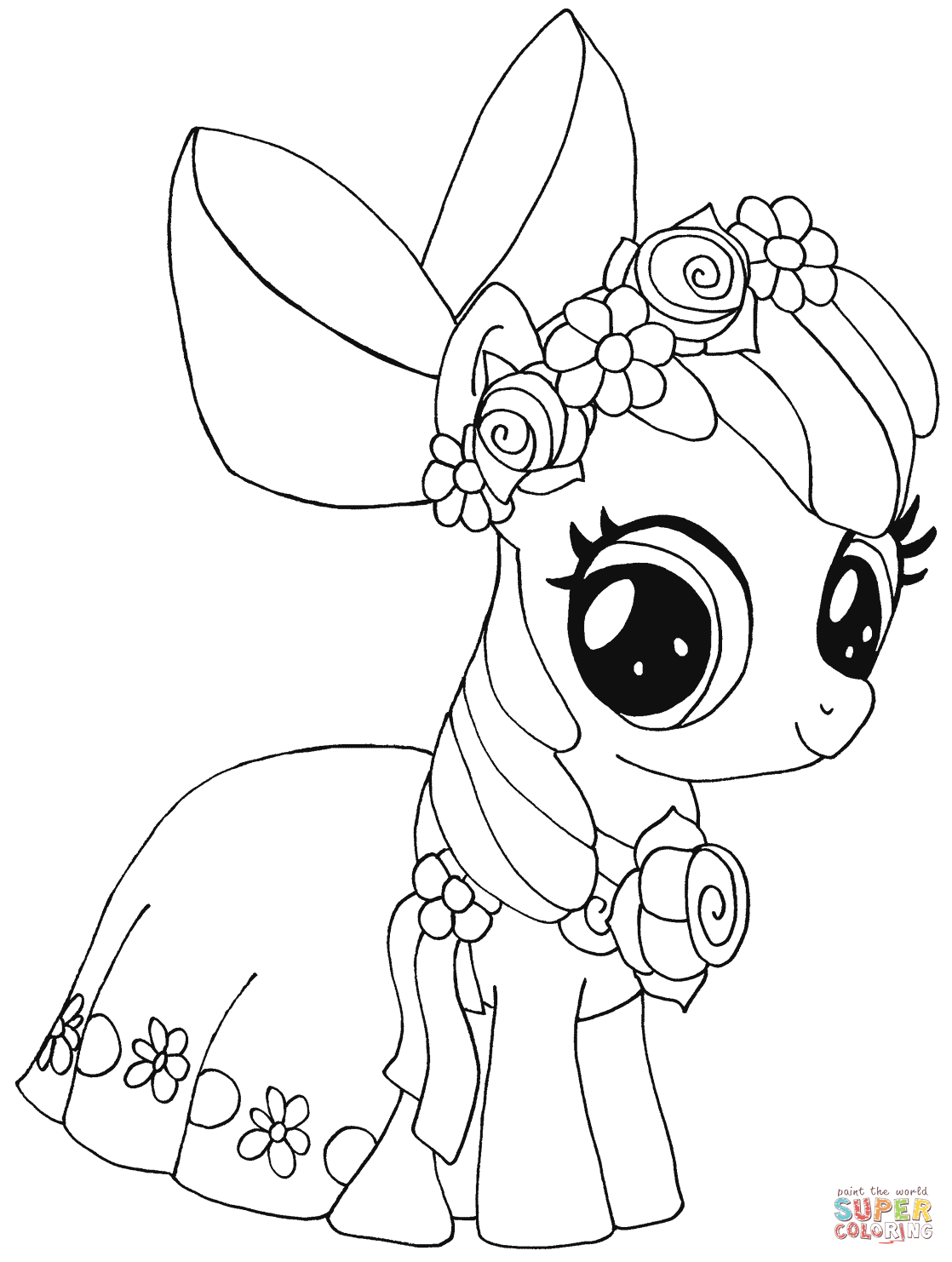 Disegno di My Little Pony Apple Bloom da colorare