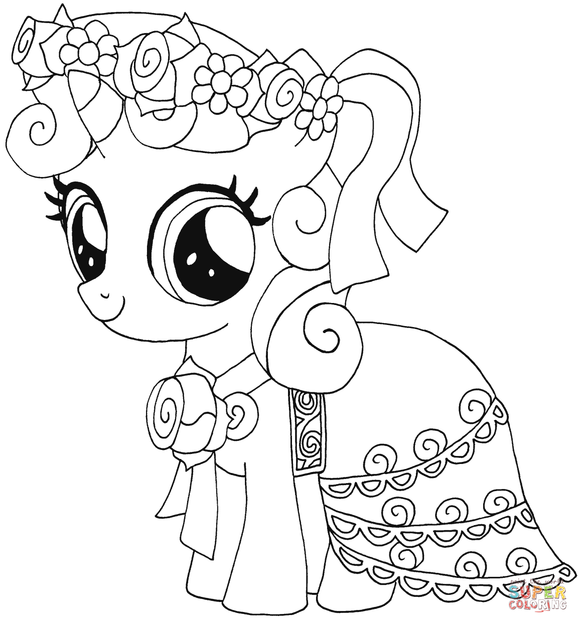 My Little Pony Sweetie Belle Coloring Page