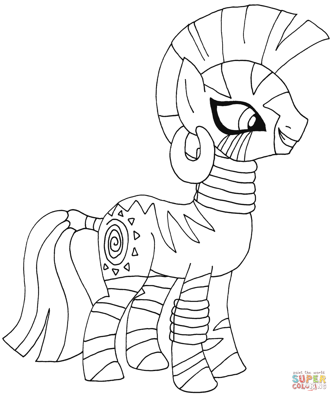 My Little Pony Zecora Coloring Page Free Printable Coloring Pages