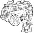 Paw patrol chase police car wallpaper coloring patrol for christmas desktop hd page printable